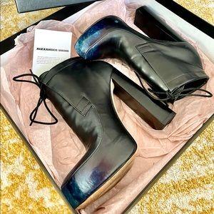 Alexander Wang Platform Blue Accent Boots